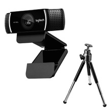 Logitech c922 pro webcam com tripé 1080 p 30fps microfone embutido