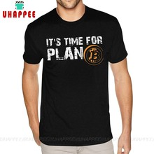 T-Shirt homme noir, taille 4XL, Funky It Time For Plan, Bitcoin, cryptomonnaie