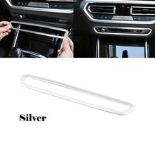 For BMW 3 Series G20 G28 325i 330d 335 2019 2020 Car Panel Center Control Volume Button Frame Cover Trim ABS Silver LHD