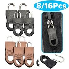 Destacável metal zíper puxar tags zip fixer para roupas preto zíper extrator slider para saco de viagem mala roupas tenda mochila