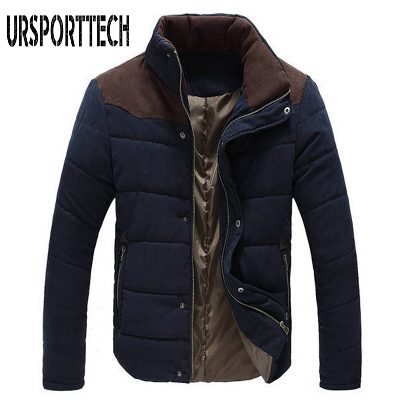 Brand Winter Jacket Men Warm Casual Parkas Cotton Stand Collar Winter Coats Male Padded Overcoat Outerwear Clothing Plus Size4XL