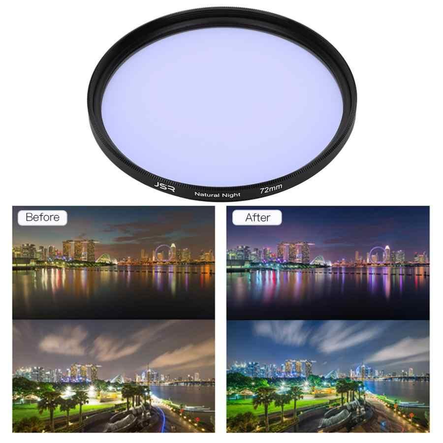 Junestar Polusi Cahaya Filter 58 Mm 62 Mm 67 Mm 72 Mm Pengurangan Kaca Optik Malam Filter Kamera Filter Lensa untuk Kamera DSLR