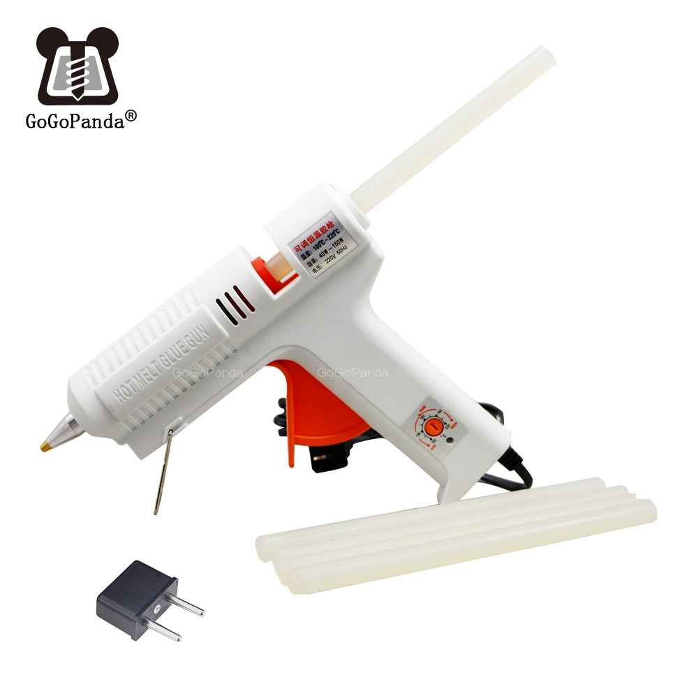 Free Shipping 220v 40-150w Hot Melt Glue Gun Temperature Adjustable Repair Kit Tools With 5 Pcs Glue Sticks