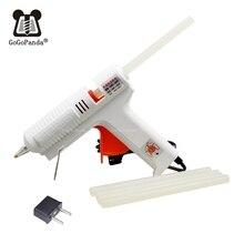 Купить с кэшбэком 100v-220v 40-150w Hot Melt Glue Gun Temperature Adjustable Repair Kit Tools with 5 Pcs Glue Sticks