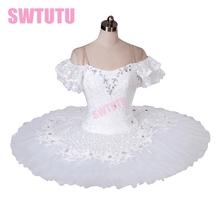 white swan lake ballet tutu professional stages costumes classical for girls BT9001