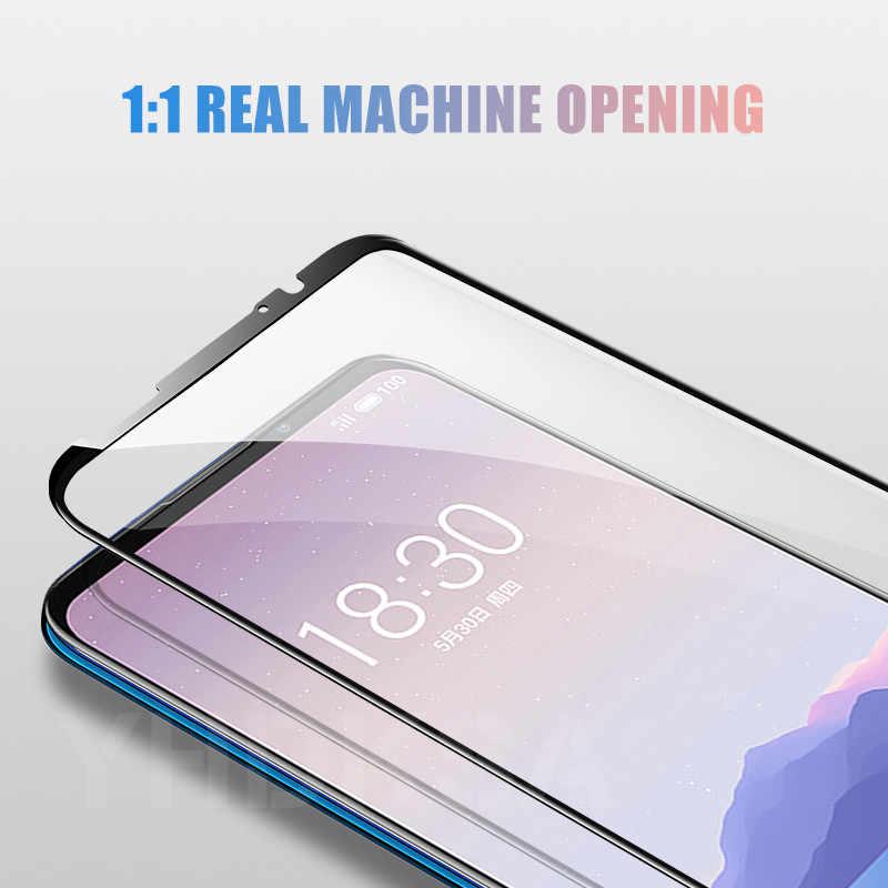 9D Kaca Tempered Di untuk Meizu Tanggal 16 16S 16X Plus 16XS X8 Note 8 9 M8 Pro 7 Plus Screen Protector Pelindung Kaca Film Kasus