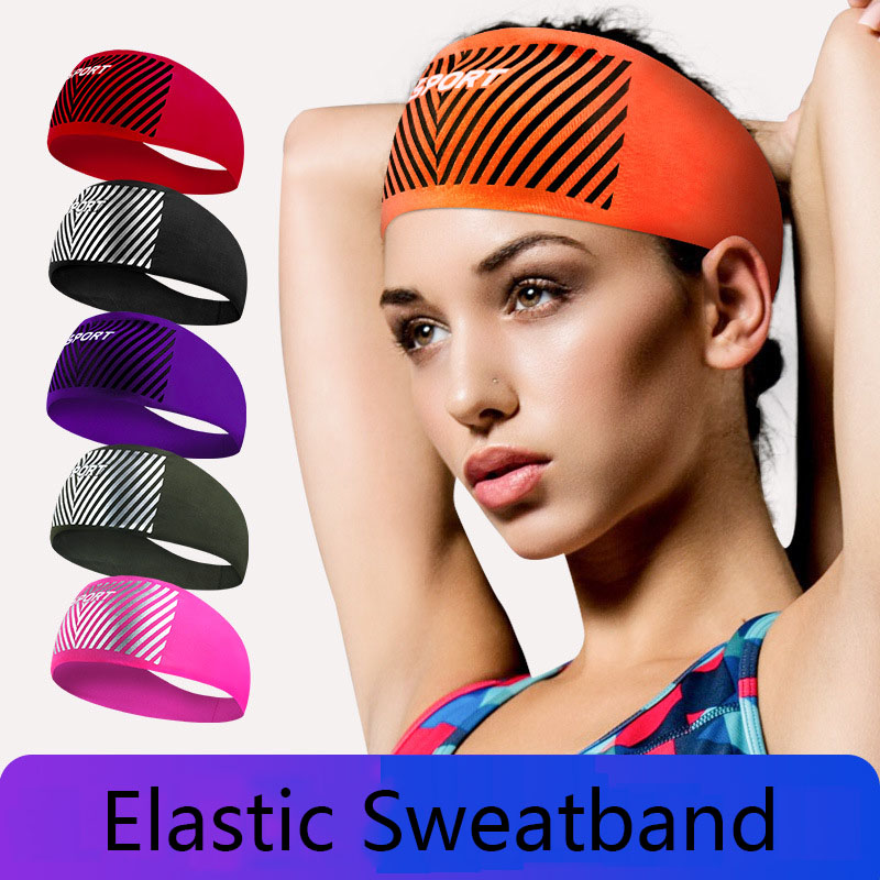 Sports Sweat Headband Elastic Sweatband Yoga Hair Band Sweat Band For Women Men
