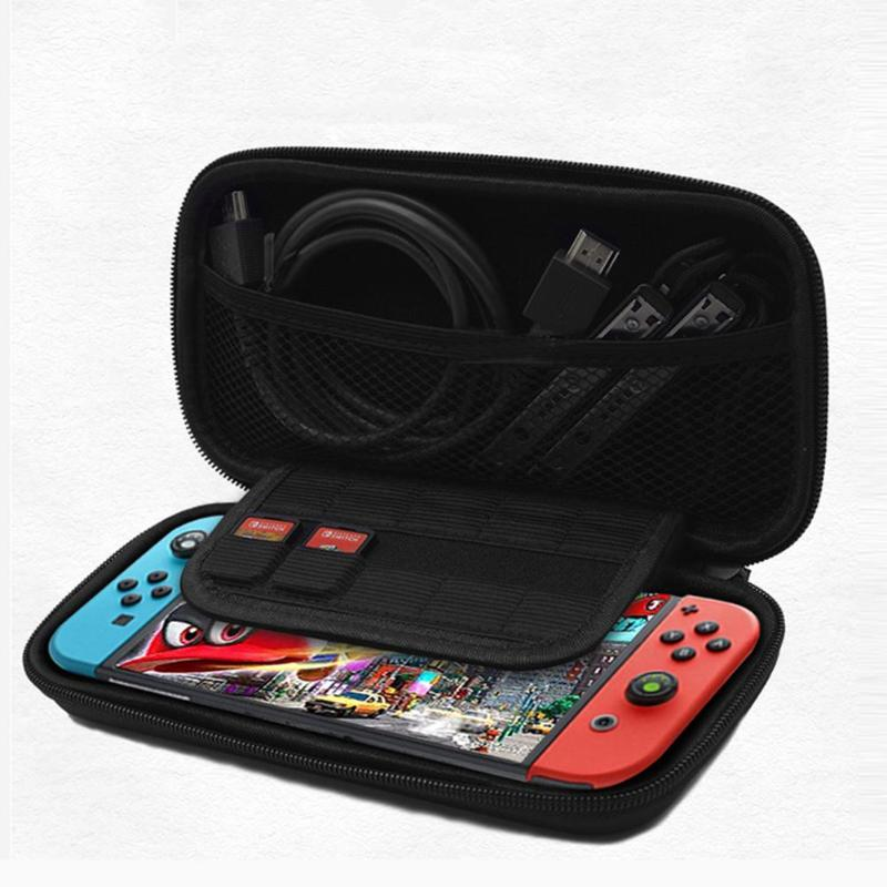 EVA Hard Shell Carry Case Storage Bag Pouch Box /Protective Case /Charging Cable/Tempered Glass Film Fit For Nintend Switch Lite