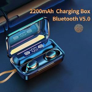 Oringinal F9-V5.0 Bluetooth 5,0 наушники TWS сенсорная гарнитура с отпечатком пальца Hi-Fi стерео наушники беспроводные наушники для спорта