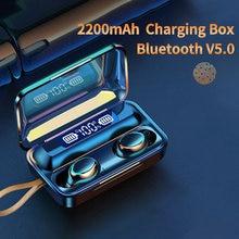 Oringinal F9-V5.0 Bluetooth 5.0 écouteurs TWS empreinte digitale tactile casque HiFI stéréo dans l'oreille écouteurs sans fil casque pour le sport