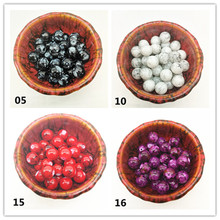 Wholesale 4/6/8/10mm Czech Glass Beads Round Charm Loose Spacer Painted For Jewellery Making DIY Bracelet&Necklace