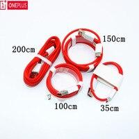 Für Oneplus 6T Dash Ladegerät Kabel Usb Typ-C Kabel Schnell Rot 30/ 100/150/200cm Lade power data kabel für eine plus 6 5t 5 3t 3