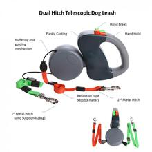 Pet outdoor traction rope dog traction rope automatic telescopic walking double traction dog traction rope anti-winding dog rope high quality puppy dog automatic telescopic traction rope