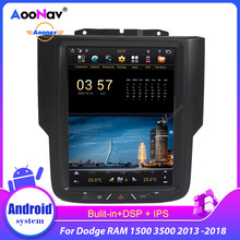 Android 9,0 Tesla Stil PX6 128G 10.5 ''Auto Radio Für Dodge RAM 1500 3500 2013 -2018 WIFI stereo Audio Multimedia-Player