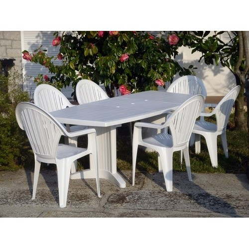Table SIL, White, Oval, Zoomable 165/225x95 Cms.
