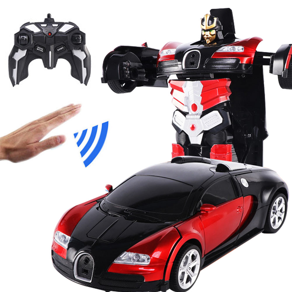 RC Induction Transformation Robot Car 1:14 Induction Deformation Robot Toy Car Electric Robot Model For Kids Boys Gifts
