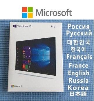 Windows 10 Pro llave USB FPP al por menor ganar 7/10 casa profesional clave de licencia tarjeta OEM COA de 64 bits DVD Microsoft OS