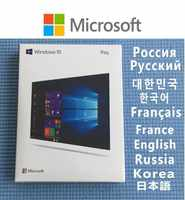 Windows 10 pro chave usb fpp varejo ganhar 7/10 profissional casa licença cartão chave oem coa 64 bit dvd microsoft os
