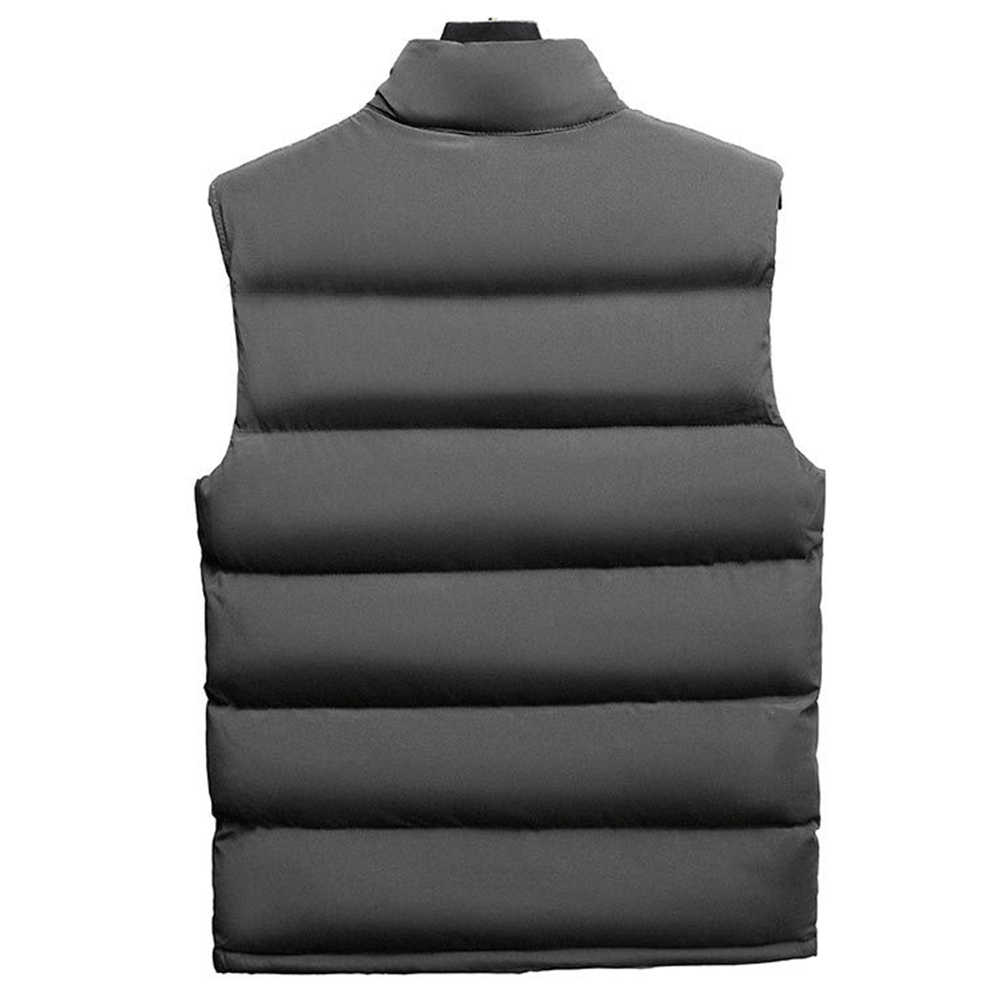 캐주얼 남성 겨울 스탠드 칼라 포켓 지퍼 조끼 플러스 사이즈 두꺼운 따뜻한 조끼 민소매 조끼 남성 코튼 두꺼운 자켓