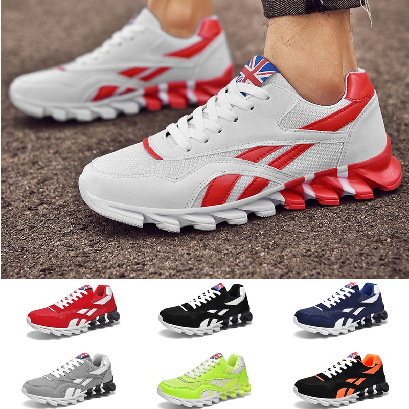 Men Women Fashion Sports Leisure Shoes Cushion Breathable Running Shoes Mixed Color Sneakers