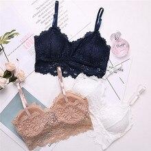 Sexy Bra Underwear Padded Crop-Top Bralette Women Seamless-Bra Lace Sport Floral Lingerie