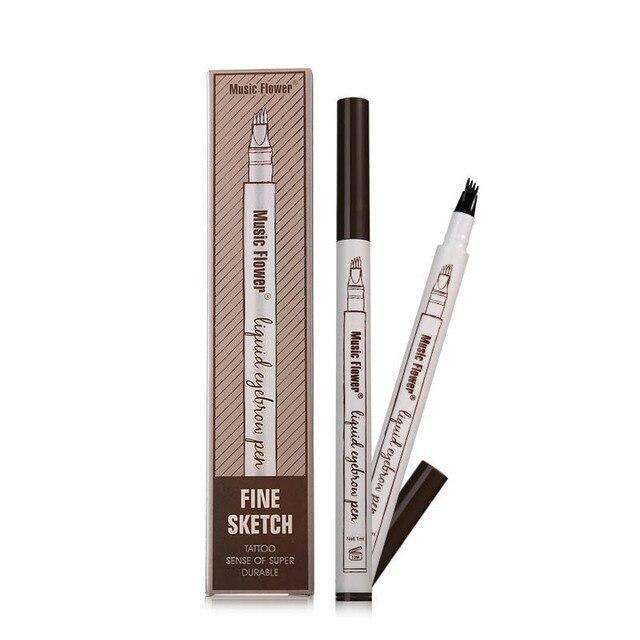 1 PCS 4 Arrow Heads Microblading Liquid Eyebrow Pencil Waterproof Sharp Tips Eye Brow Pencils Eye Liner Beauty Makeup Tools 4