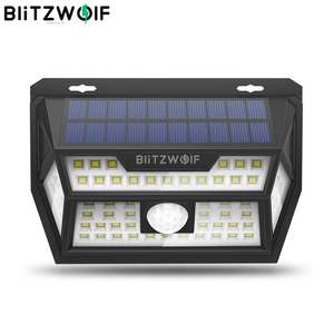 Image 1 - Blitzwolf BW OLT1 Smart PIR Motion Sensor Control Solar Power 62 LED Wall Light Lamp Waterproof for Outdoor Garden Path Yard