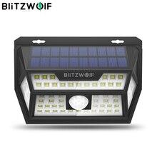 Blitzwolf BW OLT1 Smart Pir Motion Sensor Controle Solar Power 62 Led Wall Lamp Waterdicht Voor Outdoor Garden Path Yard