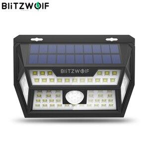 Image 1 - Blitzwolf BW OLT1 Smart Pir Motion Sensor Controle Solar Power 62 Led Wall Lamp Waterdicht Voor Outdoor Garden Path Yard