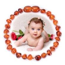 Модный детский браслет из натурального Балтийского янтаря, Детские разноцветные нестандартные браслеты ручной работы с бусинами для проре...