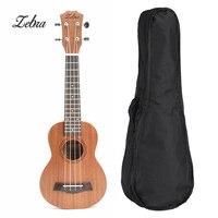 Zebra 21 inches Ukulele Tenor Soprano Mahogany Rosewood 15 Frets 4 Strings Hawaiian Guitar Ukulele Bag Musical Instruments