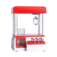 AAAE Top Electric Coin Operated Game Machine to Catch Doll Machine Toy Console Lighting and Music