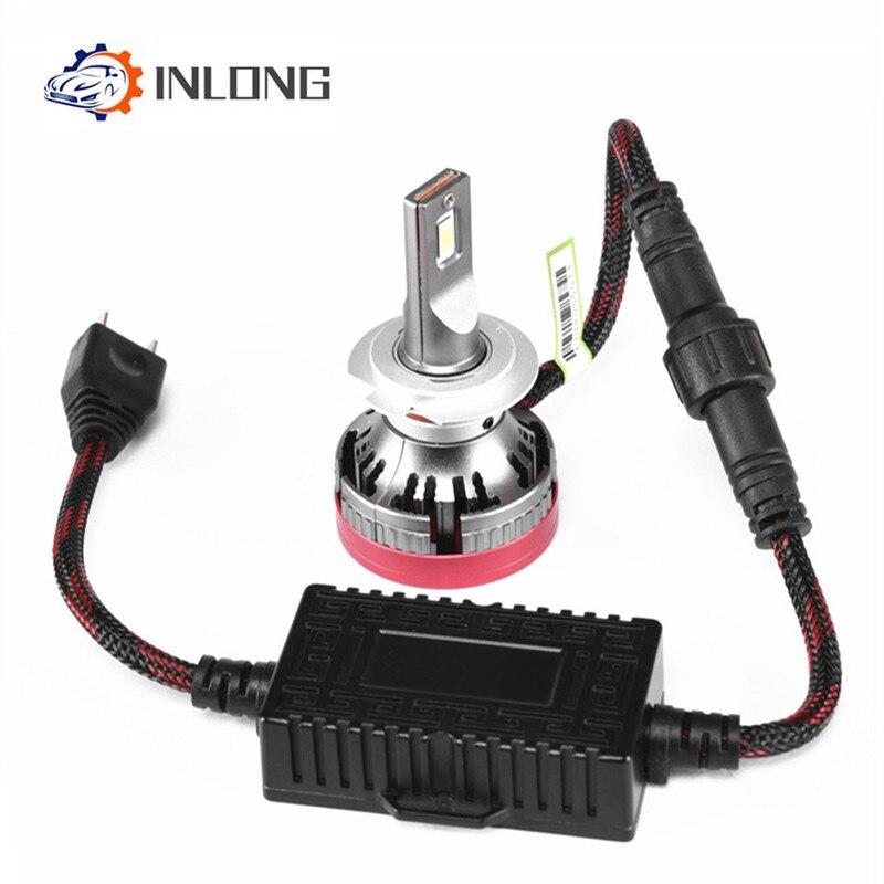 INLONG Mini H4 Lumière H7 LED Loin lampe Phare De Voiture 18000LM 12V H11 ampoule LED 9005 HB3 9006 HB4 H8 6000K Brouillard lampe Accessoires