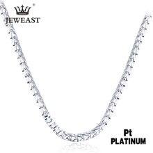 Jdxzb pt950 ожерелье из чистого золота настоящая Платина цельная