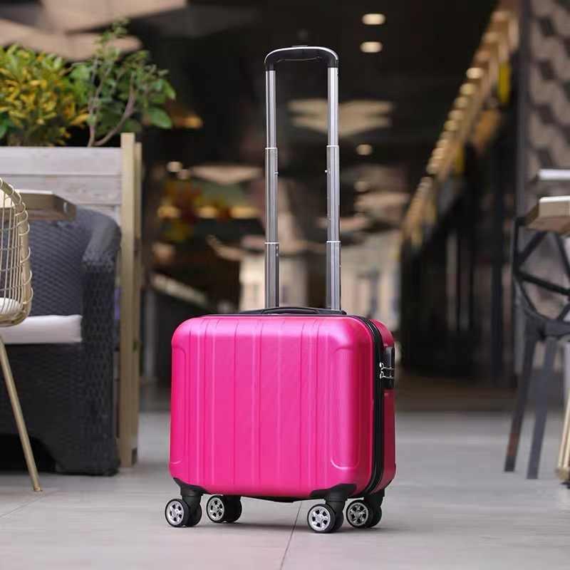 Roll Gepäck 18'' Kabine gepäck ABS Trolley koffer auf rädern kinder Tragen auf koffer set für student Trolley tasche mode