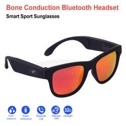 Fashion Sunglasses With Bluetooth Bone Conduction Headphone Smart Wireless Health Sports Stereo Music Earphone