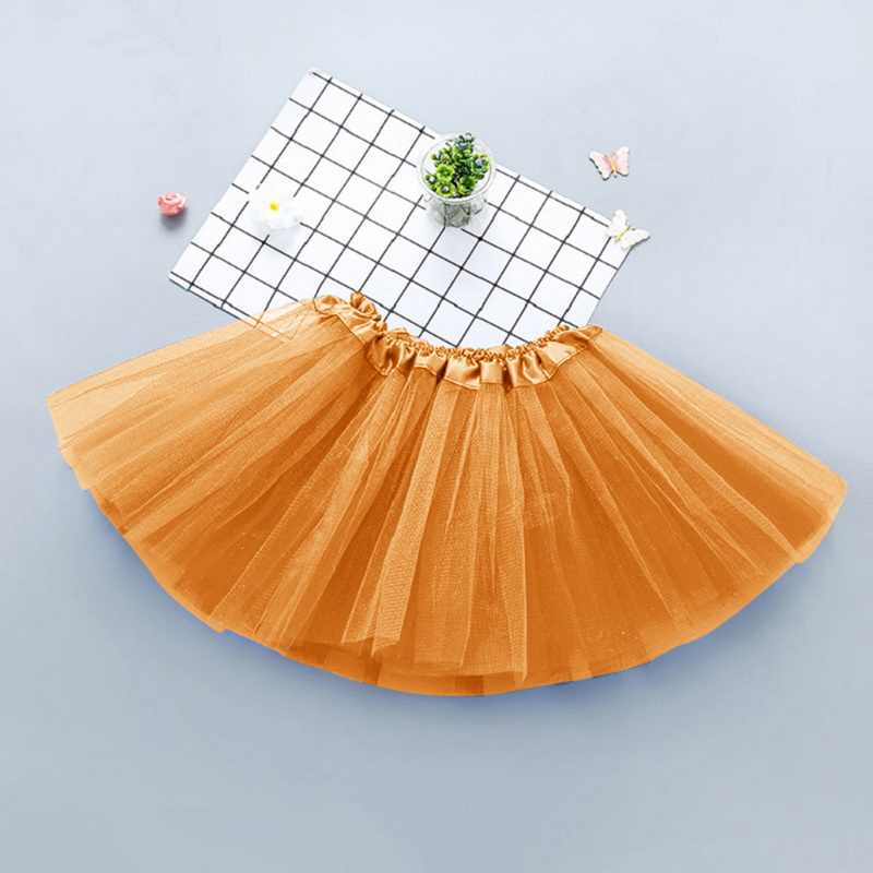 Baby Girl Tutu Skirt Kids Princess Skirts Infnat Ball Gown Fashion Birthday Party Clothes Children Solid Tulle Costumes Clothing