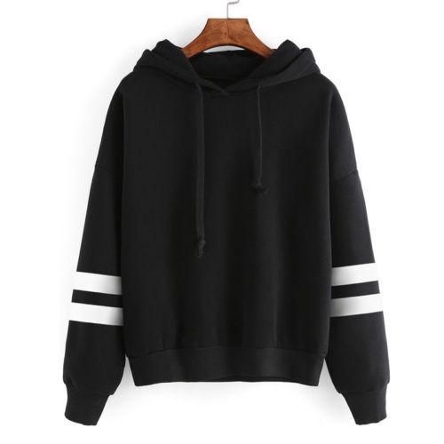 Womens Long Sleeve Hoodie Sweatshirt Sexy 2018 Fashion Jumper Hooded Pullover Tops Casual Ladies Top