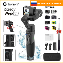 Hohem iSteady Pro 2 3 Axis Handheld Gimbal wodoodporna kamera akcji stabilizator dla DJI Osmo Gopro Hero/7/6/5/4/3 Sony RXO SJCAM Ręczne gimbale Elektronika użytkowa -