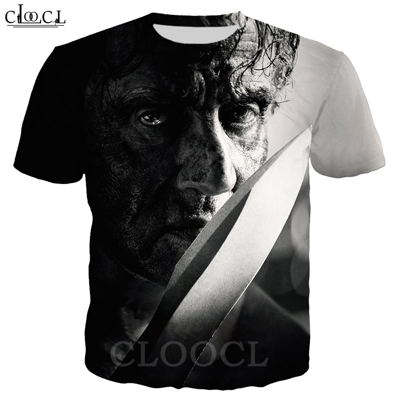 Rambo T Shirt Men Women 3D Print Last Blood Short Sleeve Cool T Shirt Sweatshirt Hippie Hipster Streetwear Tops B362