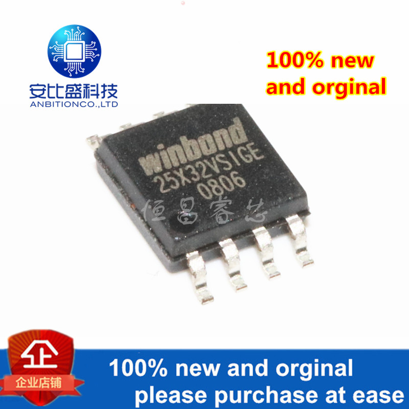 2pcs 100% New And Orginal W25X32VSSIG Silk-screen 25X32VSIG 32Mbit SOP8 In Stock