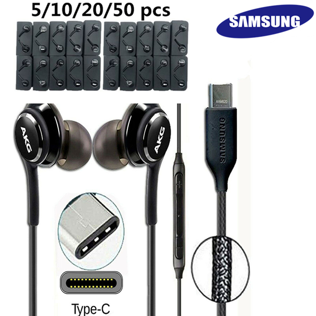 SAMSUNG AKG EO-IG955 Earphones wholesale 5 10 20 50 pcs Type-c In-ear Headset for Galaxy NOTE 10 S20 For HUAWEI Android phones