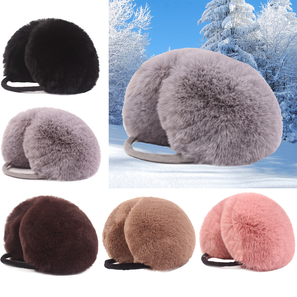 Ladies Girls Earmuffs Soft Warmer Earlap Winter Warm Solid Color Earwarmers CSHAT0428