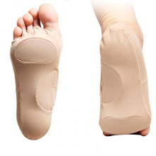 1 Pair Plantar Fasciitis Arch Support Insole Pedicure Socks Invisible Open Toe S