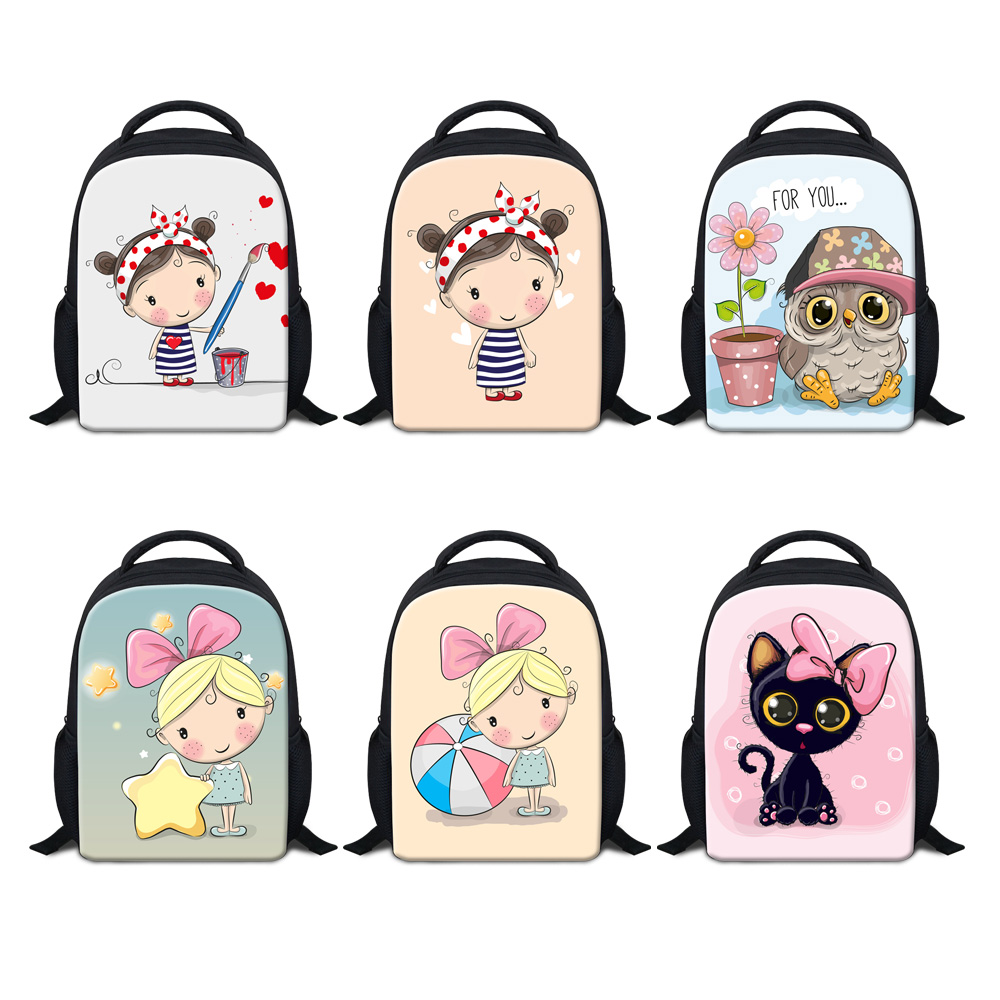 12 inch music cartoon Kindergarten backpack Small Backpack for Kids Baby School Bags Children Gift Toddler Book for 3-5 years