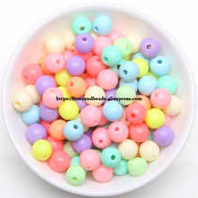 9th Aug Free Shipping Mixed Gumball Bubblegum Acrylic Round Ball Spacer Beads 4 6 8 10 12MM Pick Size For Jewelry Making