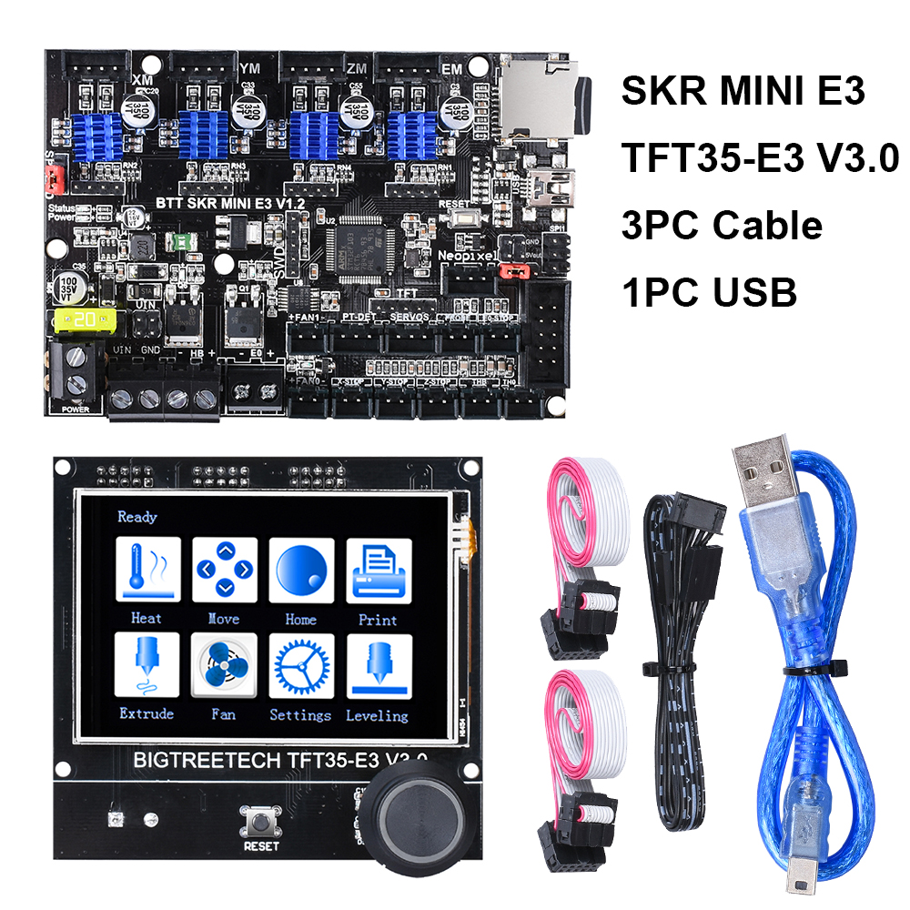 BIGTREETECH SKR MINI E3 V1.2 32 Bit Board+TFT35-E3 V3.0 Touch Screen E3 DIP TMC2209 TMC2208 3D Printer Parts For Ender-3 CR-10