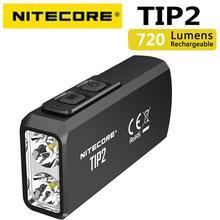 100% original mini luz nitecore tip2 cree XP G3 s3 720 lumen usb recarregável chaveiro lanterna com bateria