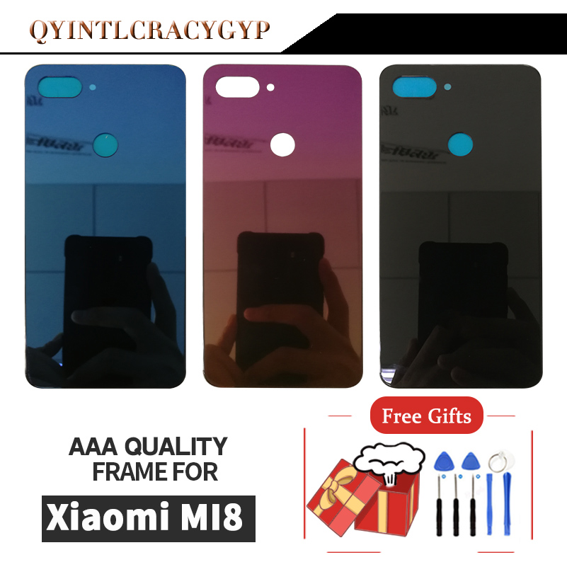 Glass Rear Housing <font><b>Cover</b></font> For <font><b>Xiaomi</b></font> <font><b>MI</b></font> <font><b>8</b></font> Lite Back Door Replacement <font><b>Battery</b></font> Case For <font><b>Xiaomi</b></font> <font><b>MI</b></font> <font><b>8</b></font> Lite Glass <font><b>Battery</b></font> <font><b>Cover</b></font> image