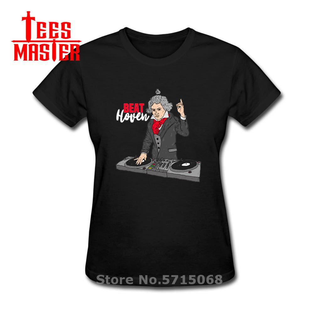 Funny Ludwig Van Beethoven T Shirt Parody DJ Beethoven Music T-shirt Famous Worldwide Musican Hipster Tees Great Composer Tshirt